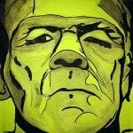 Frankenstein ink darwing