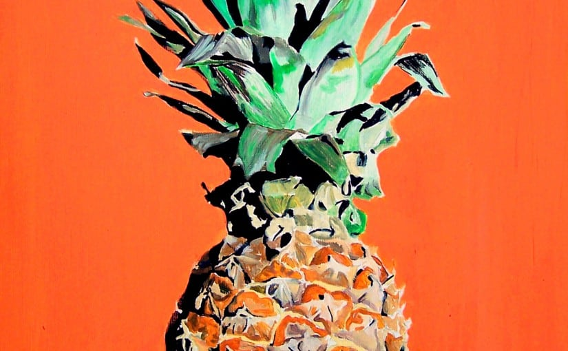 Pop art pineapple