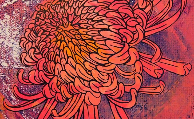 Chrysanthemum flower modern art print