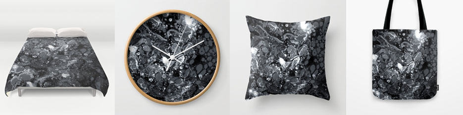 Black marble art prints