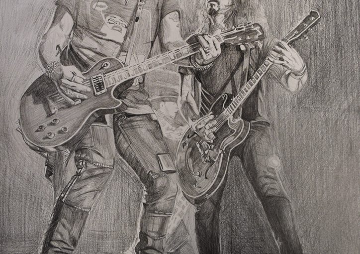 Slash & Dave Grohl on Stage